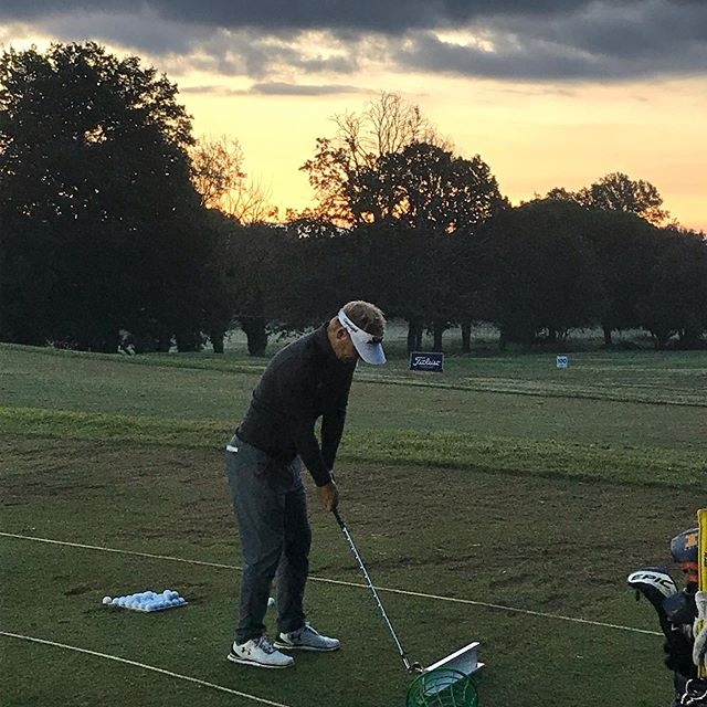 Early starter today at @openditaliagolf #europeantour #rolexseries #srixon #srixongolf #imagegolf #underarmour #hessel #golf
