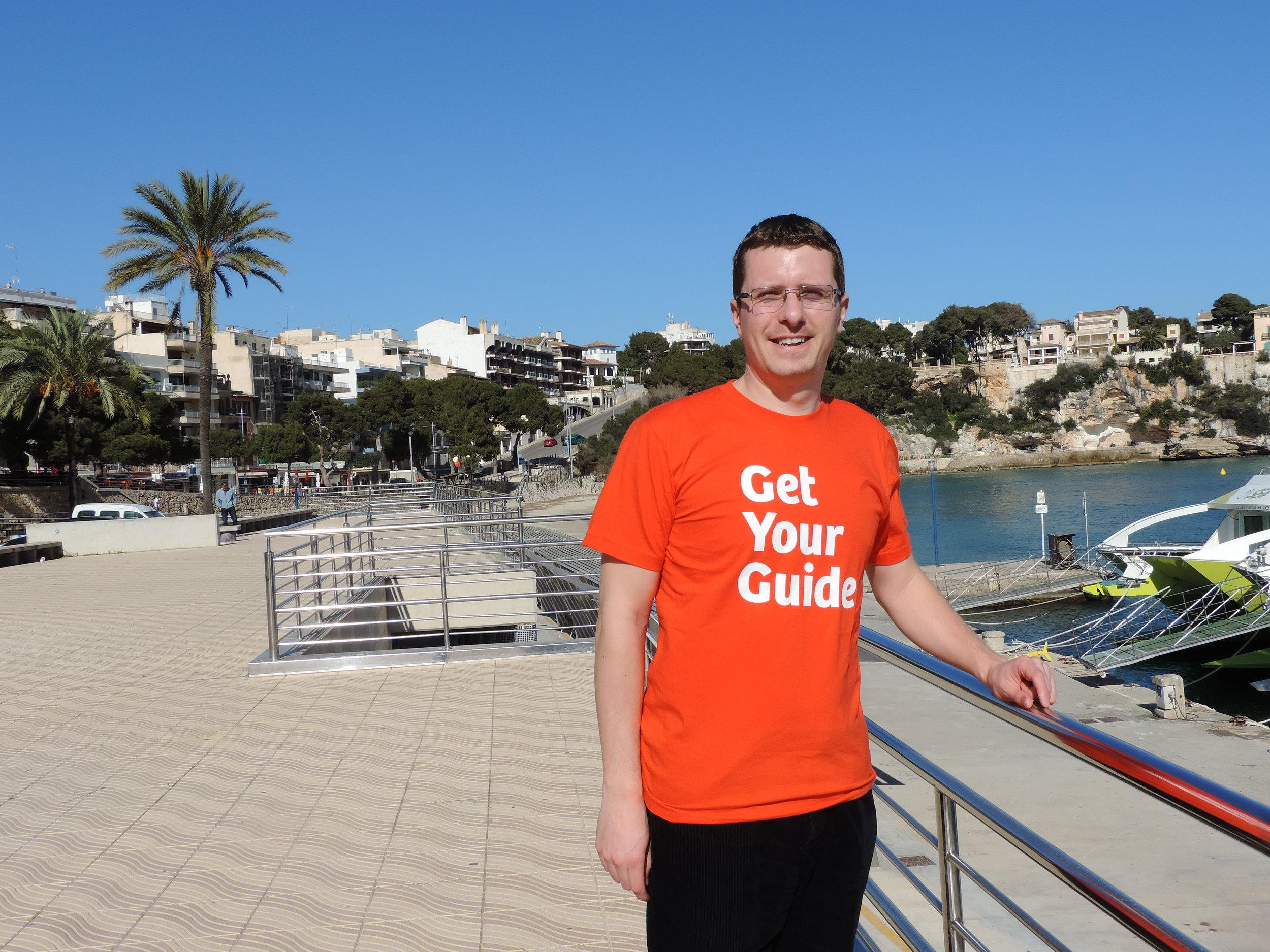 Marius Mazgalici enjoying the sun in Mallorca!