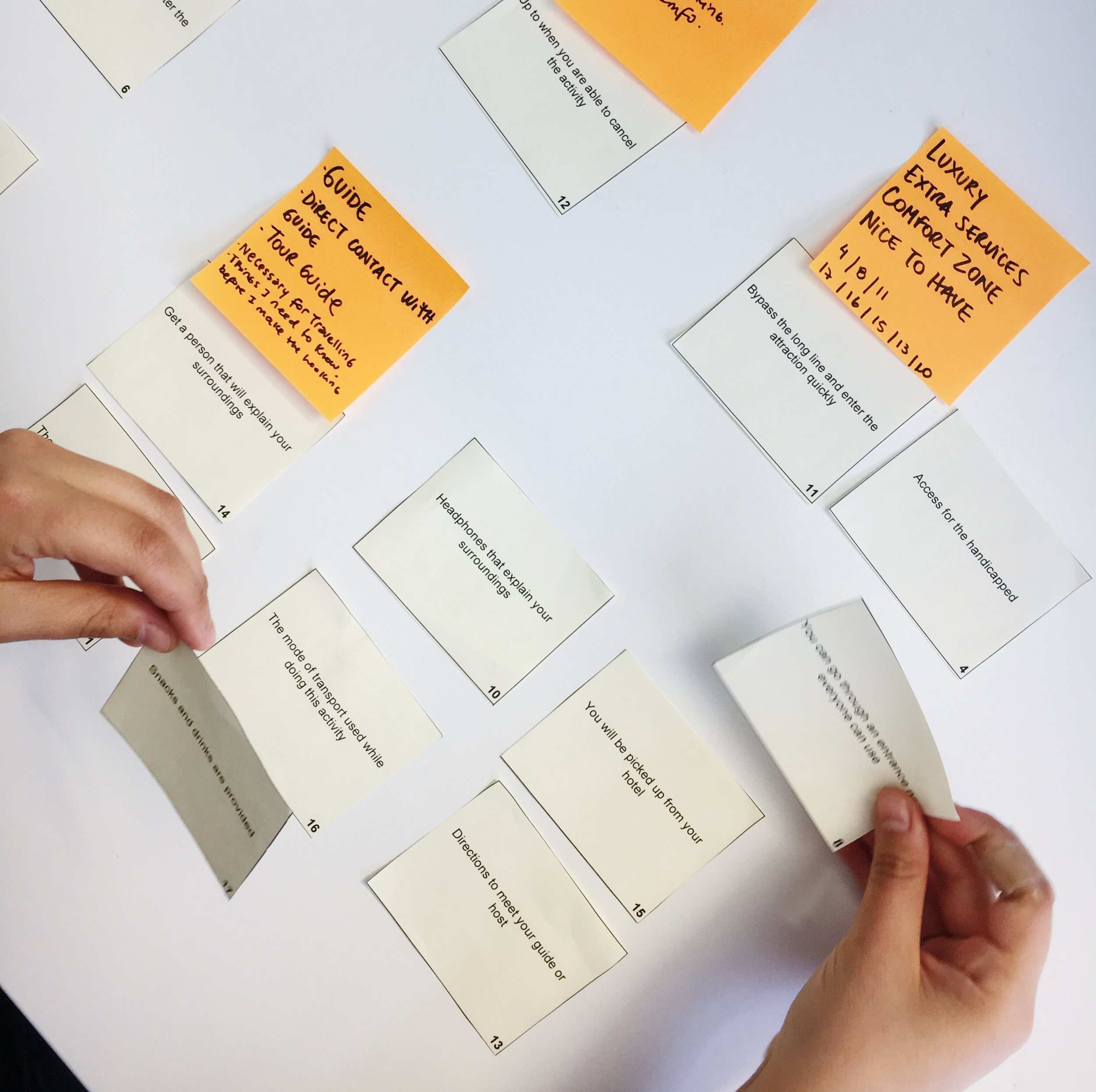 Card Sorting - This is a qualitative/quantitative method that asks users to group items and assign categories to each group.