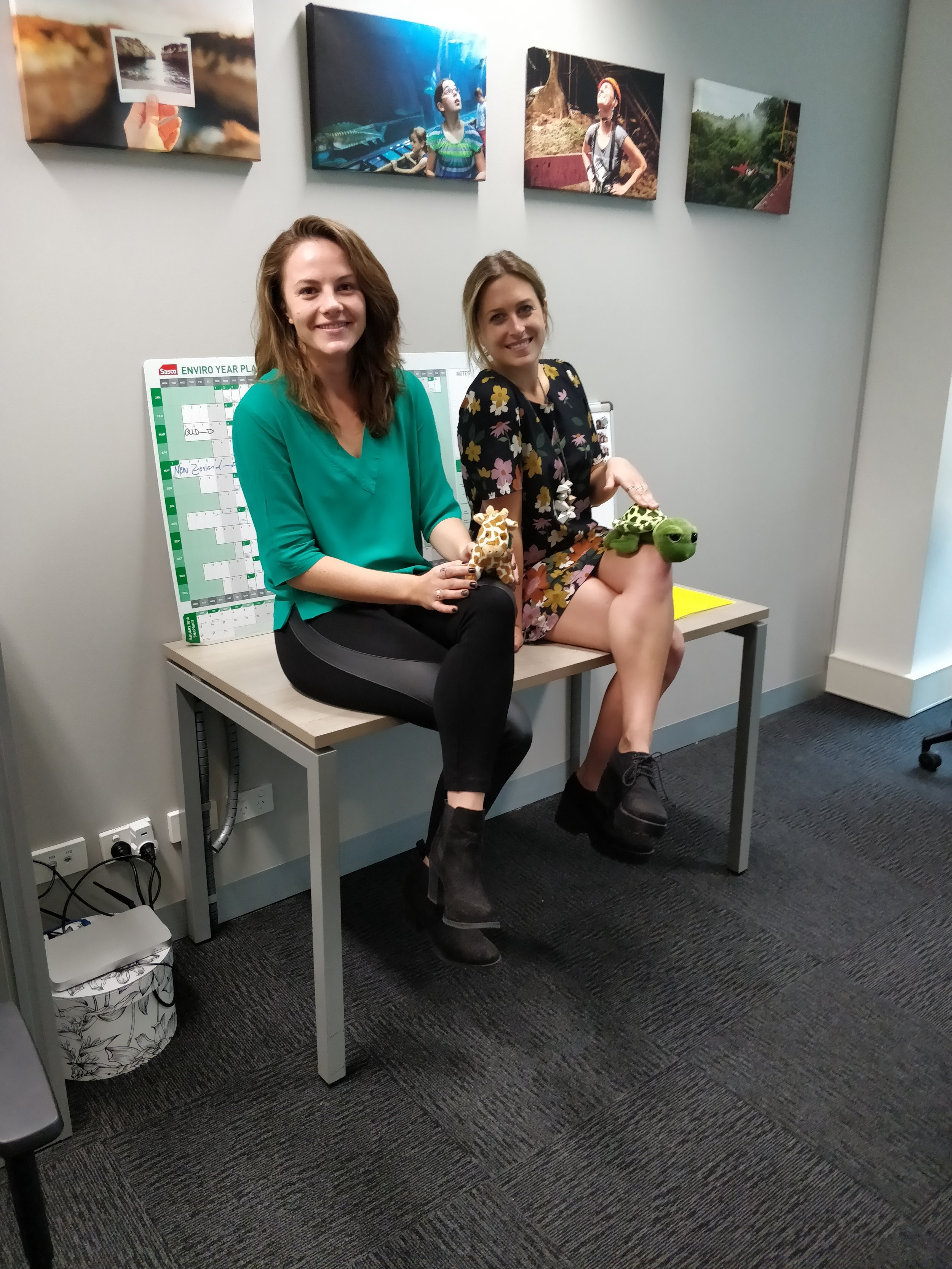 Tilly and Stephanie from our Sydney office. The Core Values proudly hung on the wall!