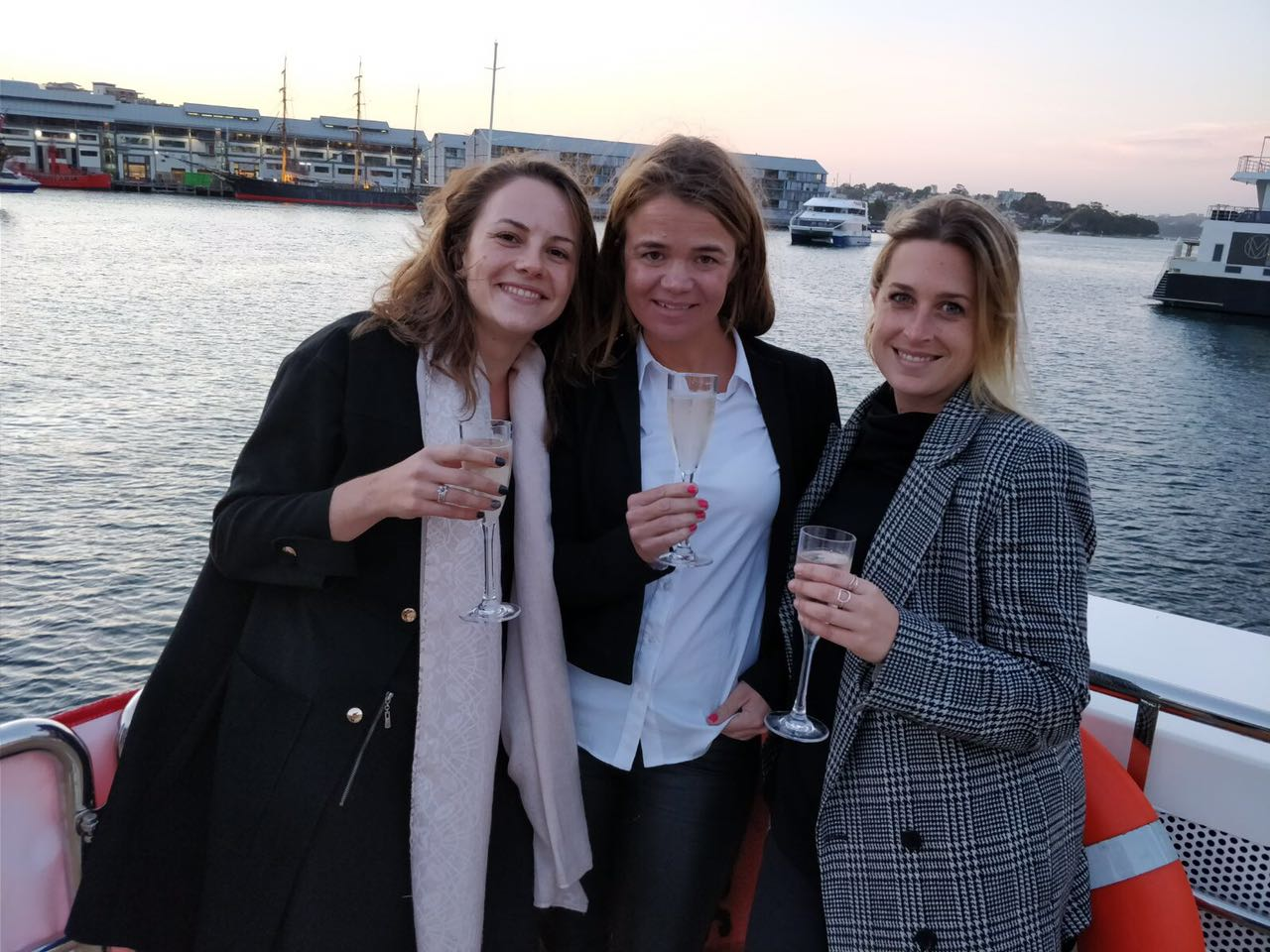 Julia, Tilly and Stephanie celebrating success! From left to right: Tilly, Julia, Stephanie.