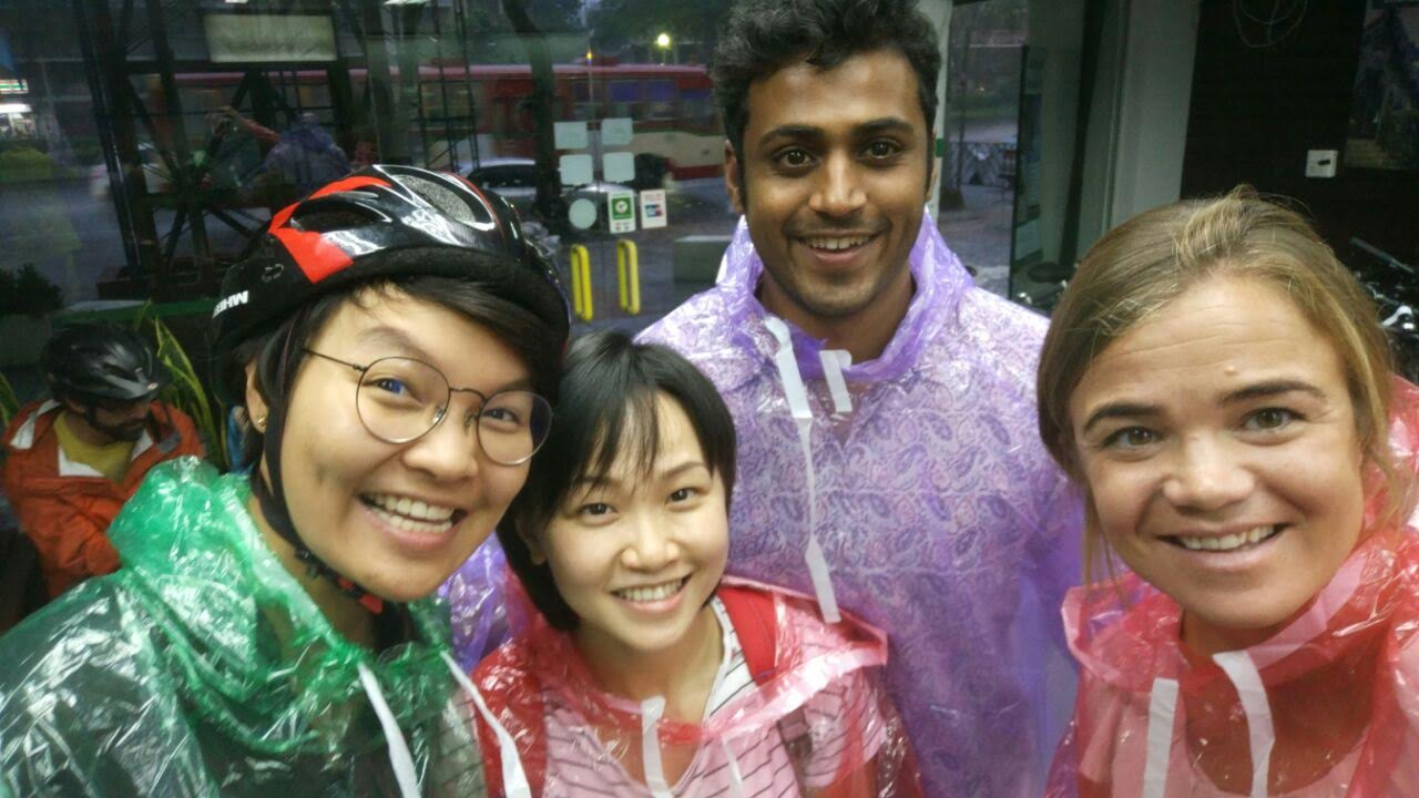 Vicky, Abhi and Poon from our Bangkok team product testing with Julia! (From left to right, Poon, Vicky, Abhi, Julia).