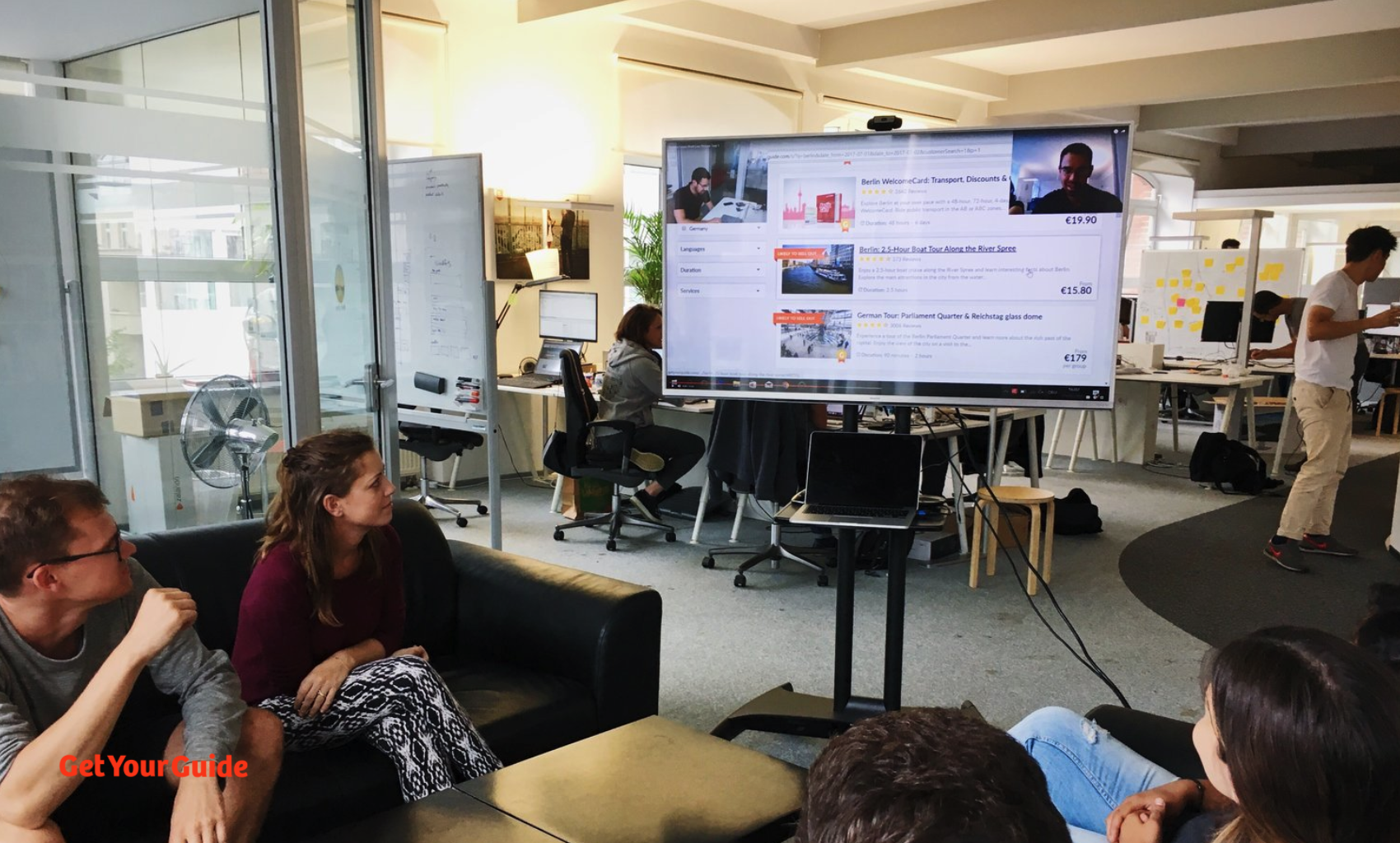 Mission team watching a live session stream.