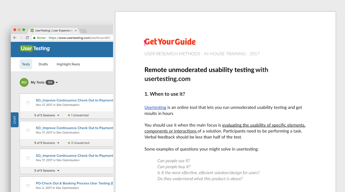 Learning material for usertesting.com