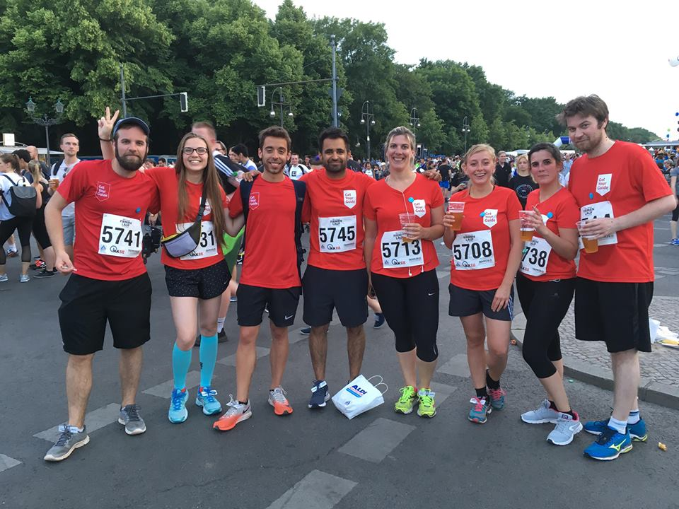 Ignasi and the rest of our company runners at the 2018 IKK BB Berliner Firmenlauf