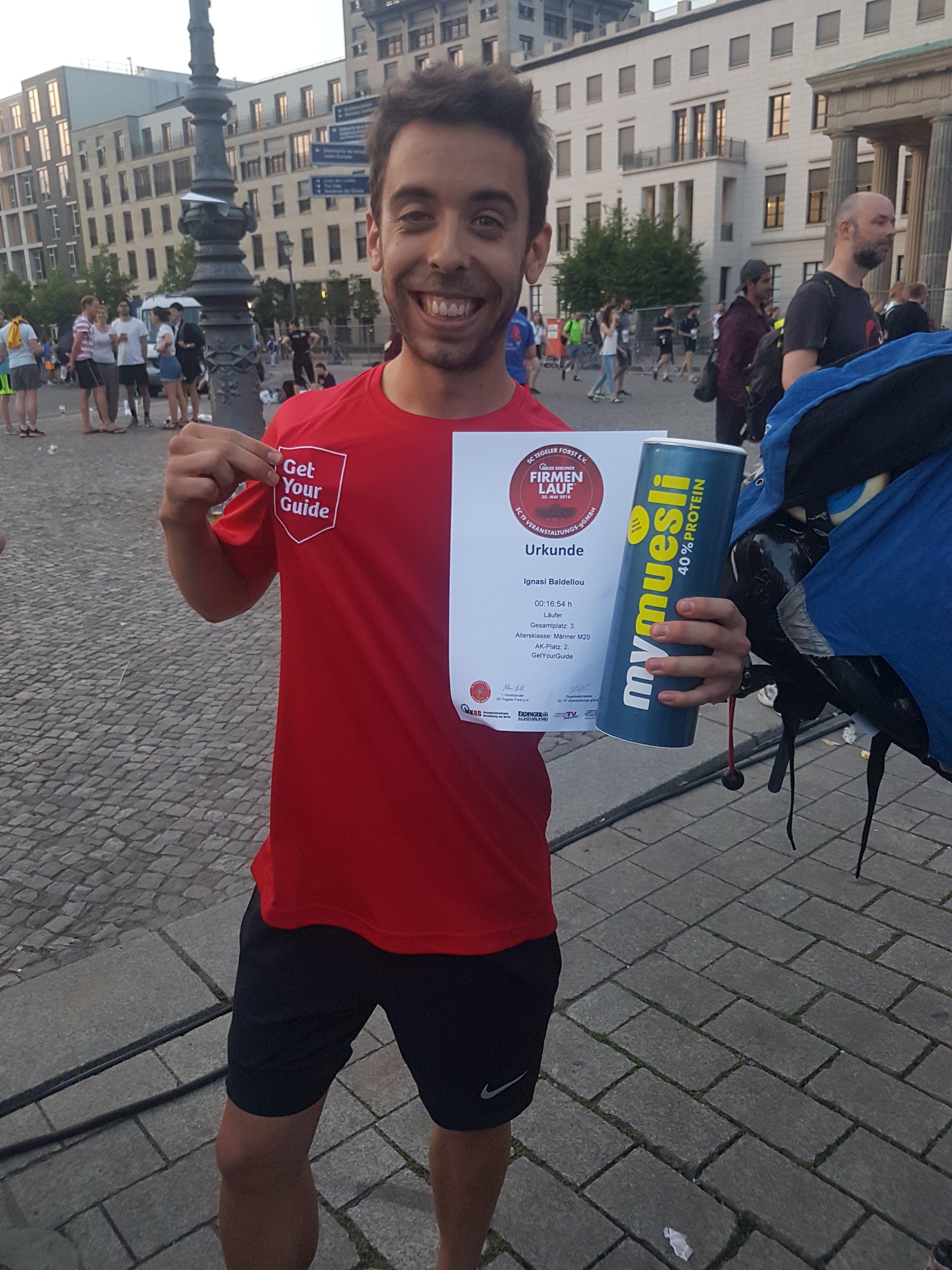 Ignasi, following his 3rd-place finish in the 2018 IKK BB Berliner Firmenlauf