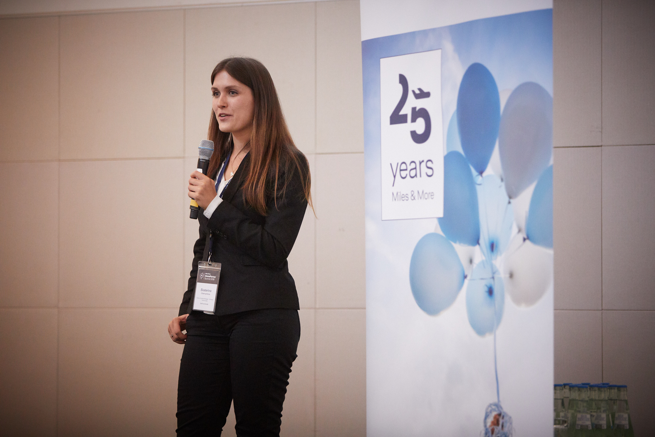 Ekaterina at the Miles and More Summit