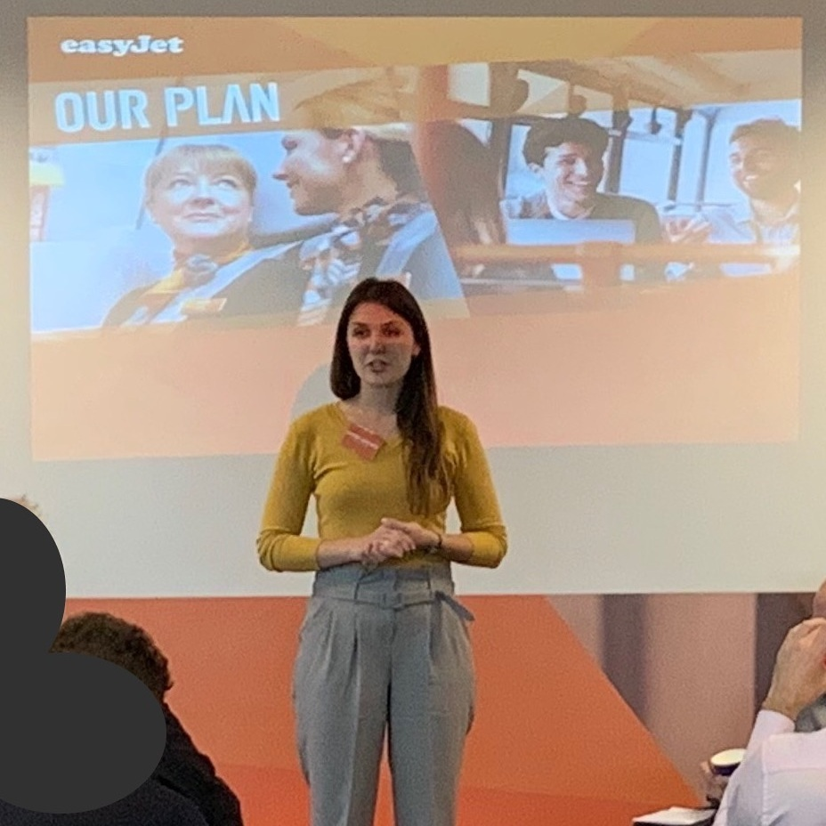 Ekaterina at the EasyJet Partner Day