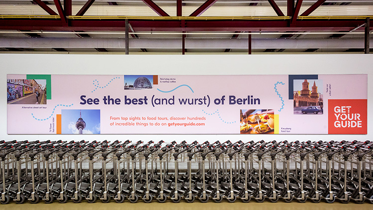 Billboard advertisement at the Berlin-Tegel airport designed by Creative Studio
