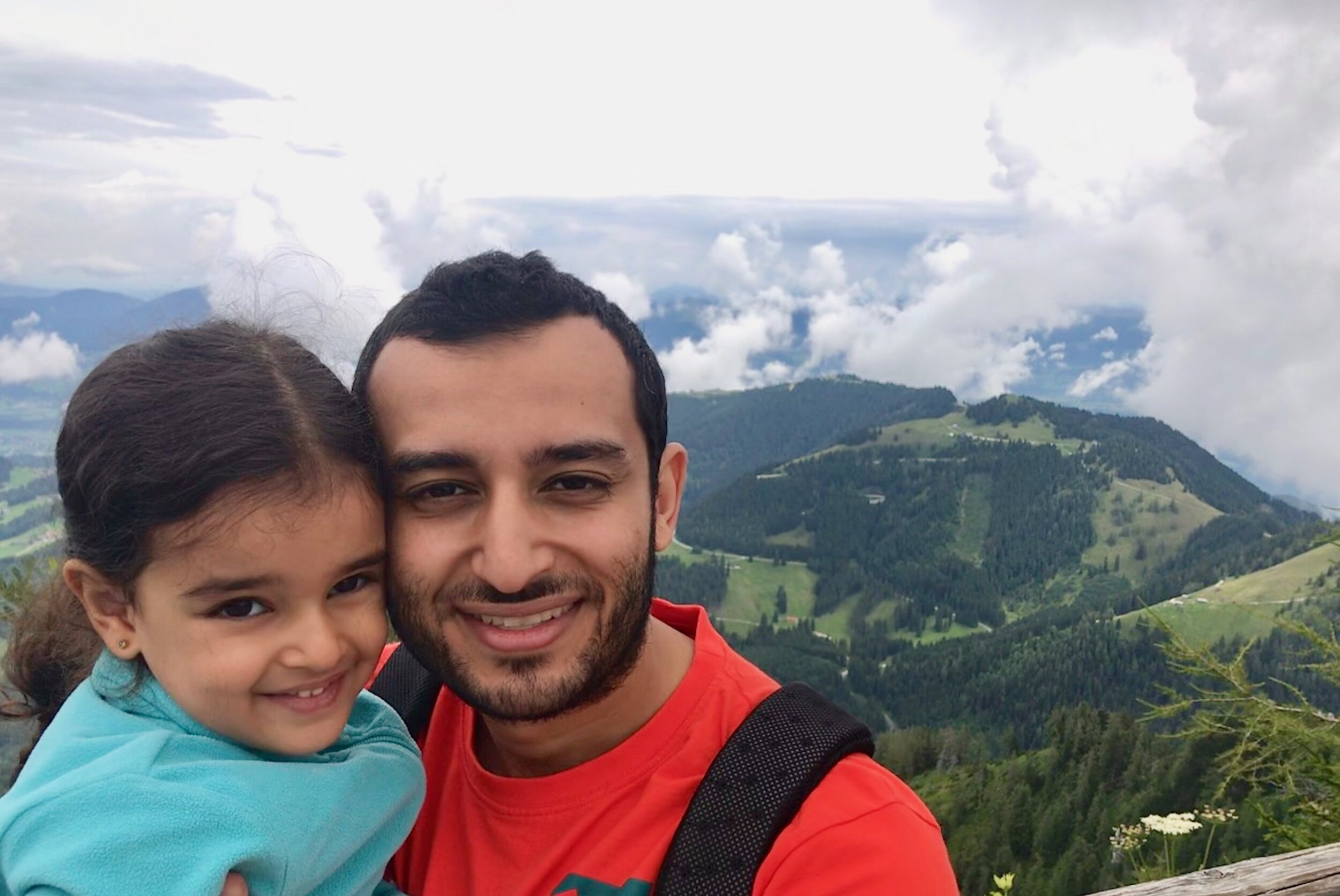 Ashraf and his daughter exploring Berchtesgaden National Park in the Alps
