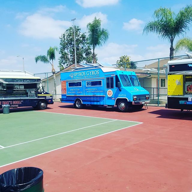 Happy birthday to the city of Monterey Park celebrating 103 years. We are here for their annual celebration parade and Carnival... join us till 10 p.m. . In Monterey Park Marshall High. The parade ends at 2 pm. And the carnival goes till 10 pm. #foodtruck #Streetfood #greekfood #foodie #healthy #gyros #falafel #family #montereypark #lalalasagna #saturday