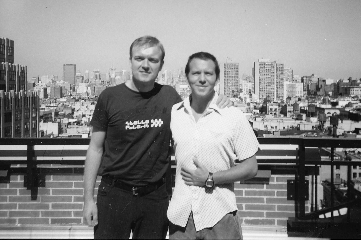 Manhattan Skyline. Henrik Tuxen & Eddie Vedder. September 19, 2002. Photo: Nicole Vandenberg.(Chapter 3)