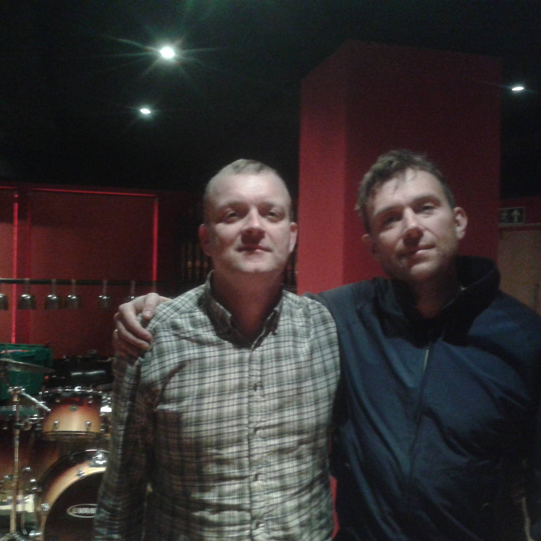 Henrik Tuxen & Damon Albarn, London 2014.