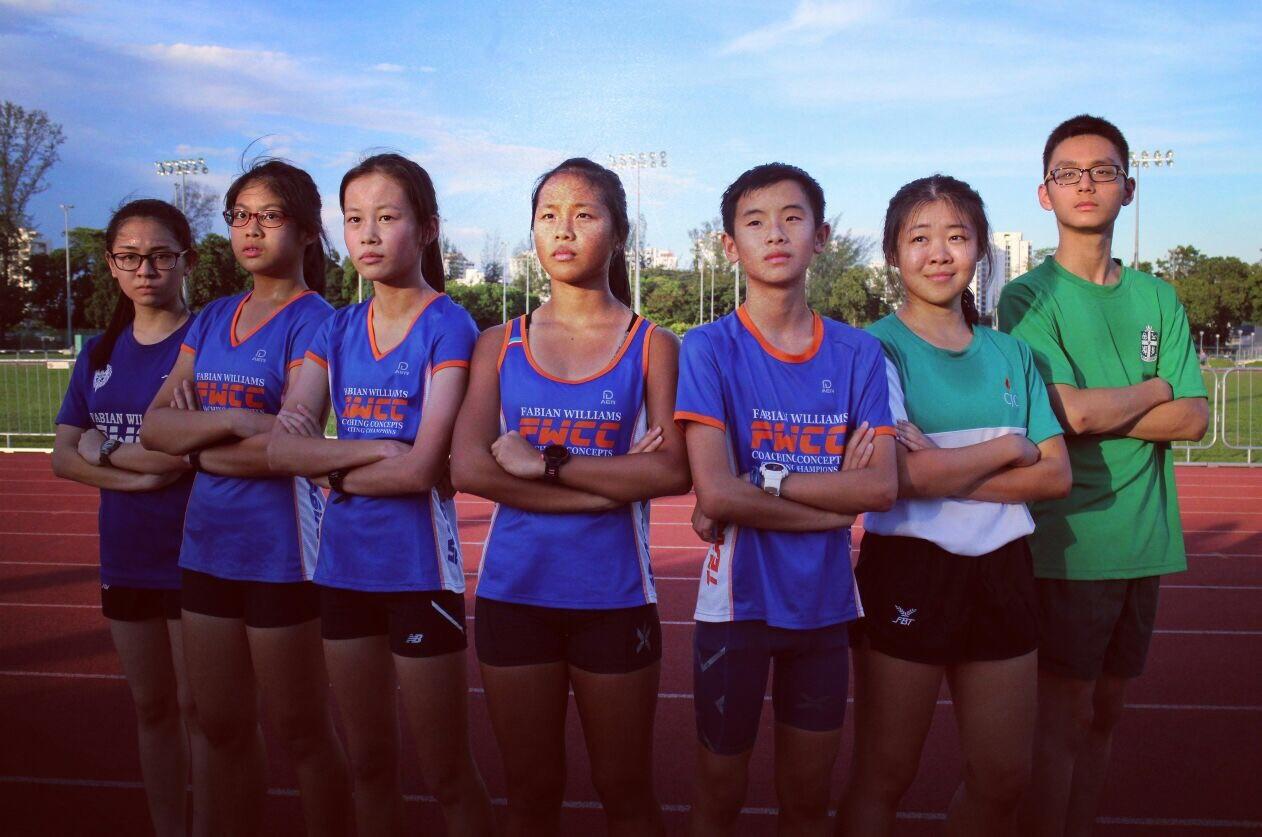 The TeamFabian walking squad. From left to right: Shantel, Rachel, Joelle, Dora, Shaun, Zhu Yu, Malcolm.