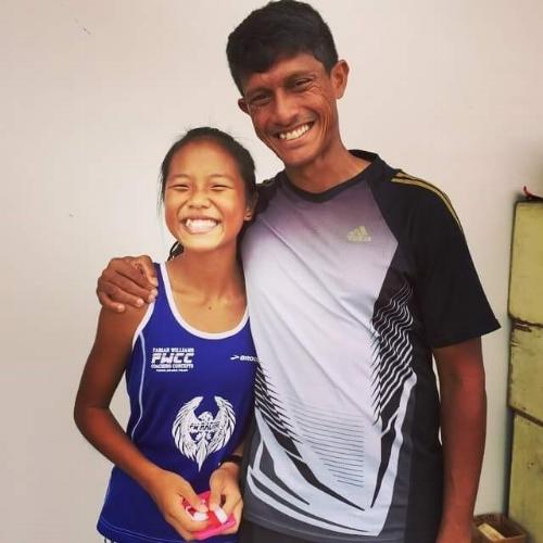 Dora and Coach Fabian