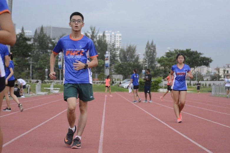 Malcolm and Zhu Yu during training.