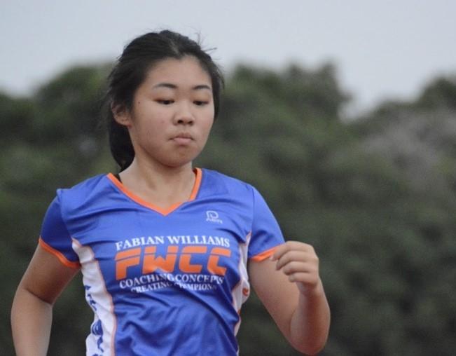 Zhu Yu at training.