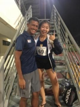 Zhu Yu with Coach Fabian after her Nationals walk.