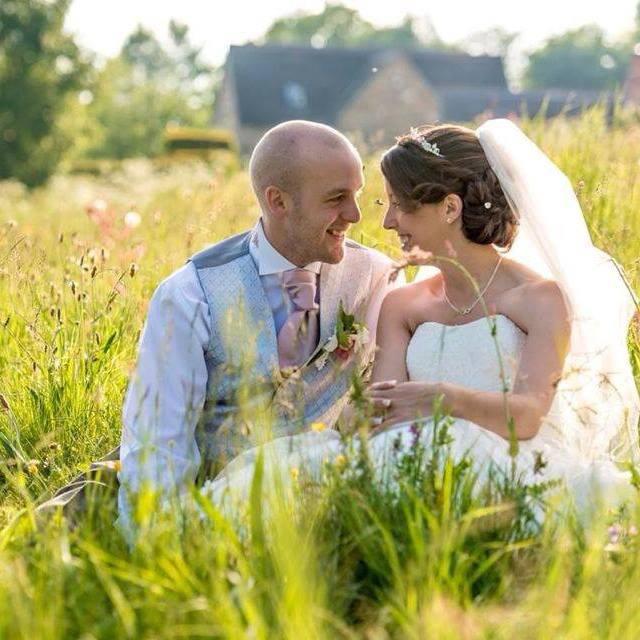 Bride and groom bridal hair derby