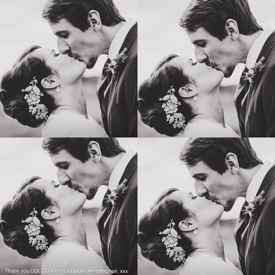 Vintage bride and groom styled by cocco salon