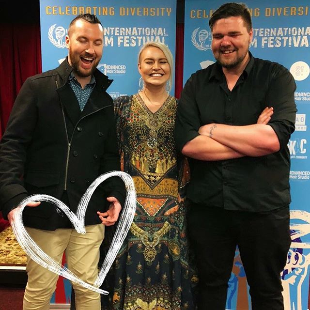Well that just about says it all! It would be nice to have the perfect family shot from the Oz International Film Fest, alas, this one is pretty much genuinely how we roll! Congrats team on not only being selected for the fest but also kicking off in first possie on opening night! The vid definitely started some fantastic dialogue with punters & made a great impact. For those who haven't seen the vid & are interested I'll link it below for you. I'm telling ya, @gary_robertson_ from #jarrahfilm is a star! Get in contact with him for your next vid! 👏👏👏 💋  #oziff #familyportrait #winnersaregrinners  Vid link 👉🏽 https://youtu.be/XLMHUoMGeU0