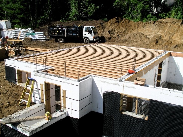First floor joists hung from ICF wall