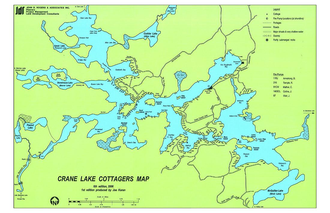 Lake Map — Crane Lake Association