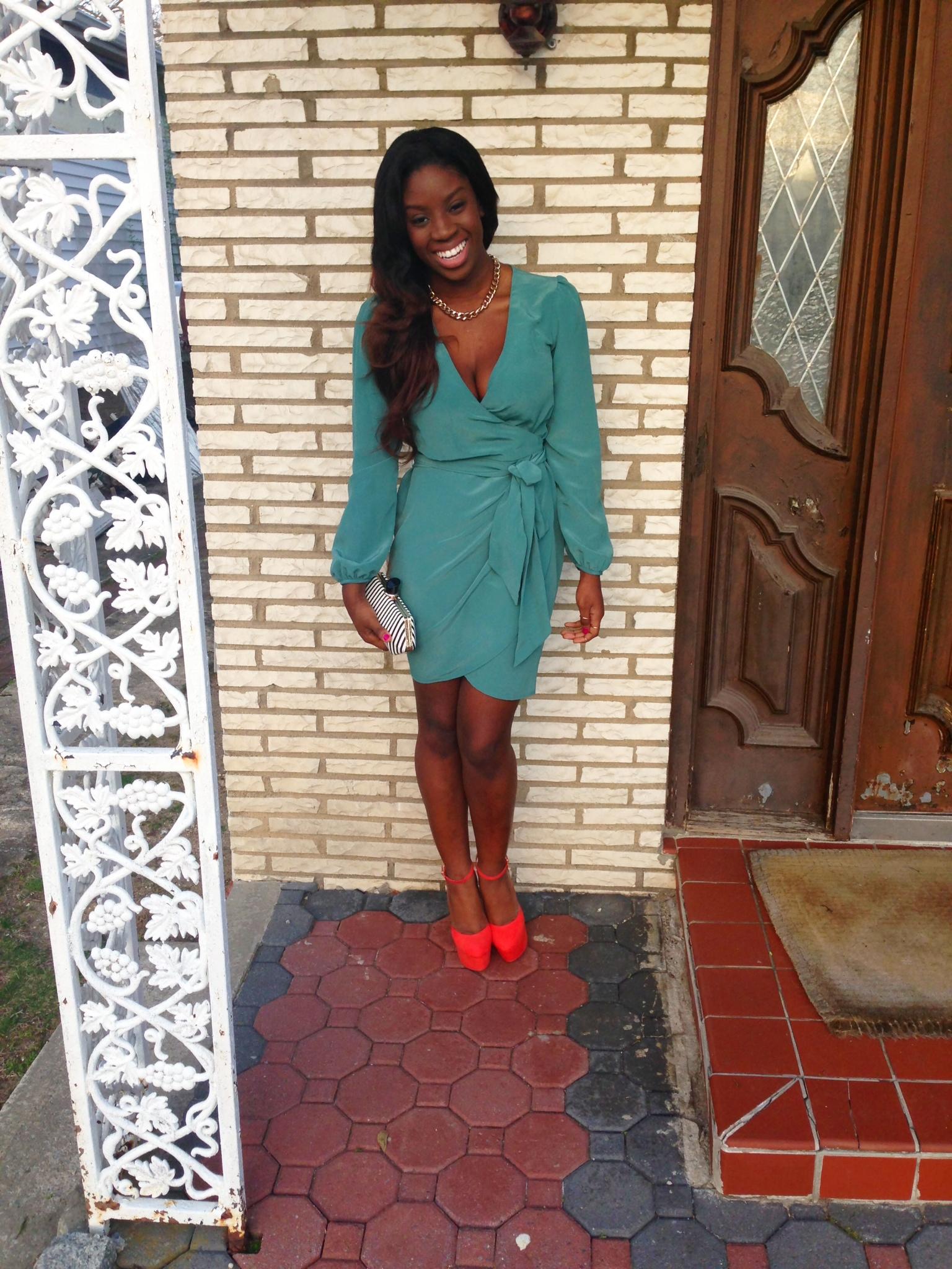 Dinner Date to  V{IV}   Dress & Shoes:  Asos  Bag:  Dynamite