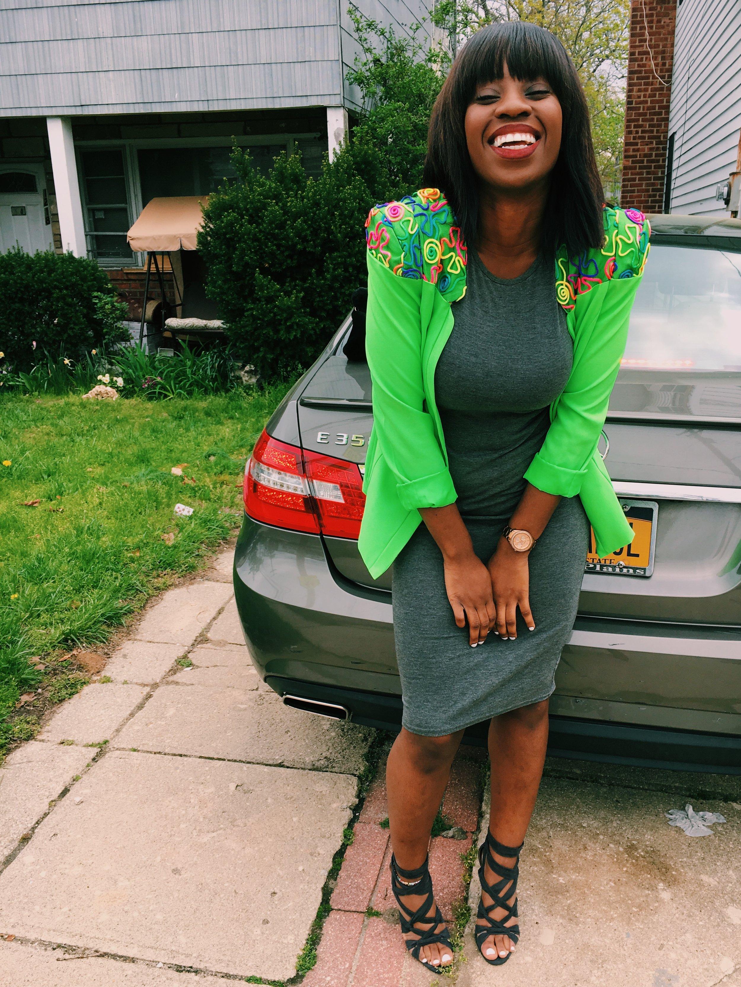 Church and Brunch at  Barawine   Blazer:  OASAP , Dress:  Boohoo , Shoes:  Justfab