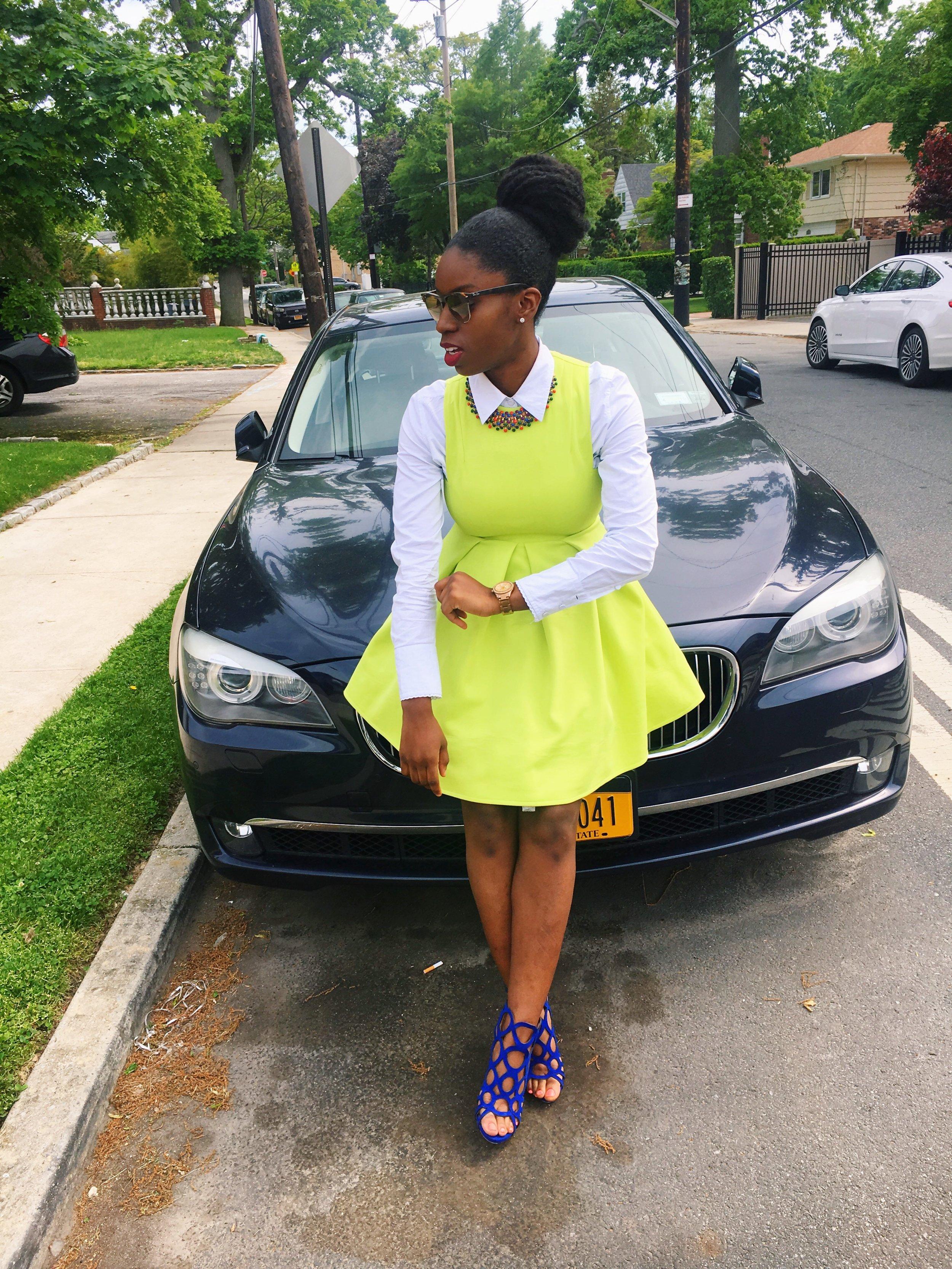 Church and Brunch at  Sweet Science   Dress:  AQAQ , Shirt:  H&M , Shoes:  JustFab