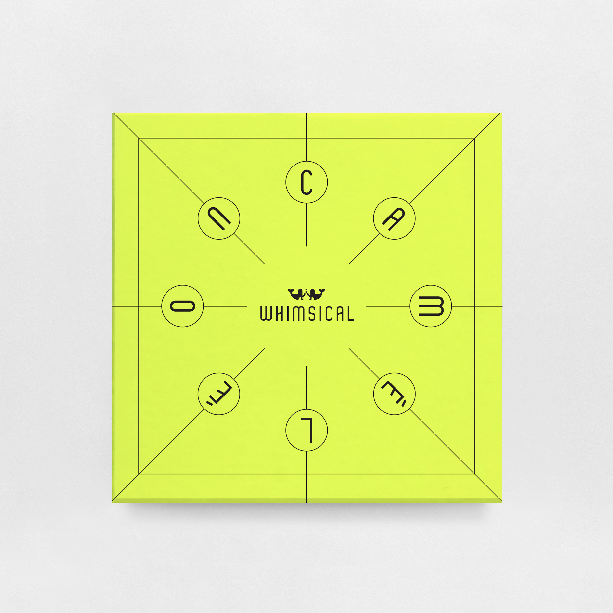 $110 + SHIPPING WHIMSICAL CAMÉLÉON TIC - TAC - TOE | NEON YELLOW
