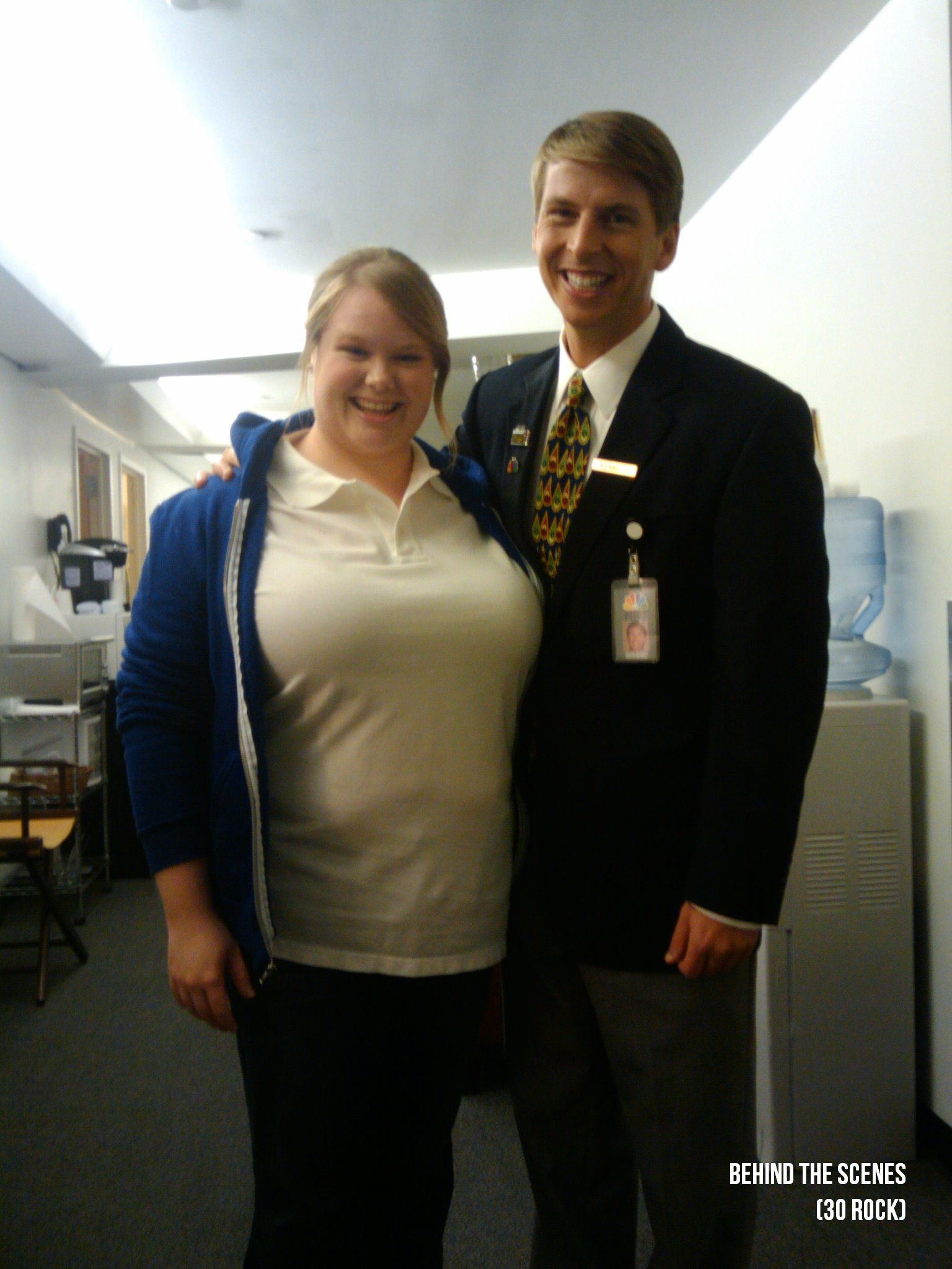 "Jen and Jack McBrayer BTS on ""30 Rock."""