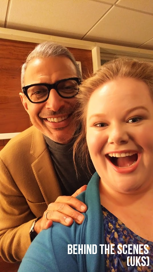 "Jen and Jeff Goldblum BTS on ""The Unbreakable Kimmy Schmidt."""