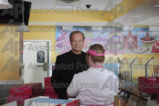 "Jen and Kelsey Grammer on the set of ""30 Rock."""