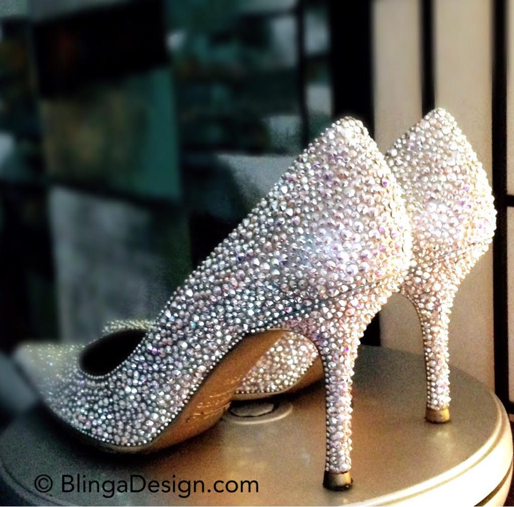 Dolce Gabbana Swarovski Crystal AB strass shoes