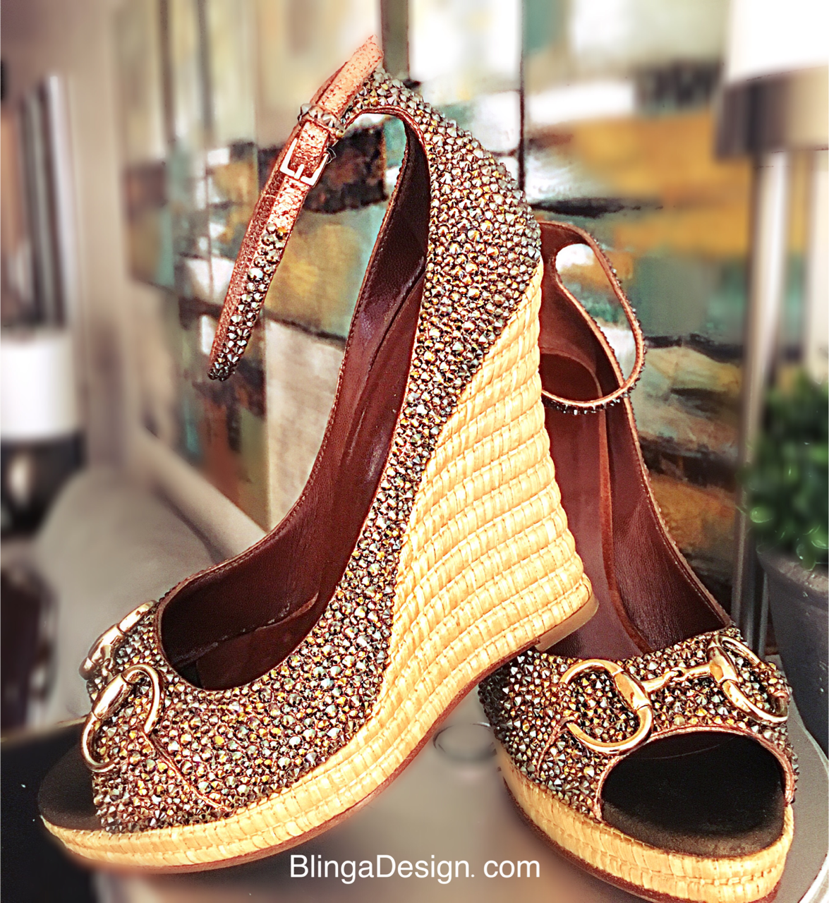 Gucci Swarovski Crystal wedges