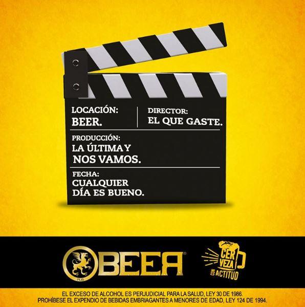 Luz, cámara, ¡Beer!