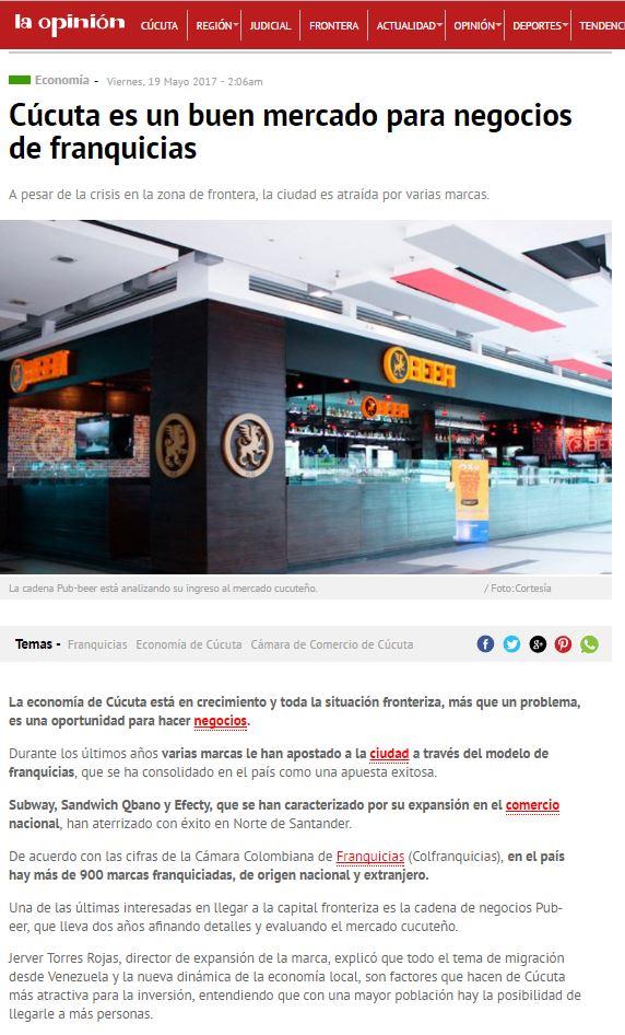 Periódico La Opinión Cúcuta