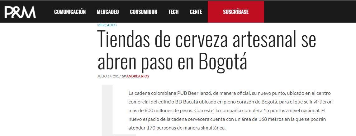 Tiendas de cerveza artesanal se abren paso en Bogotá