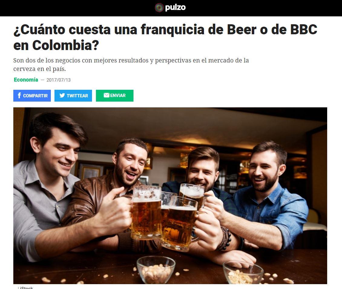 ¿Cuánto cuesta una franquicia de Beer o de BBC en Colombia?
