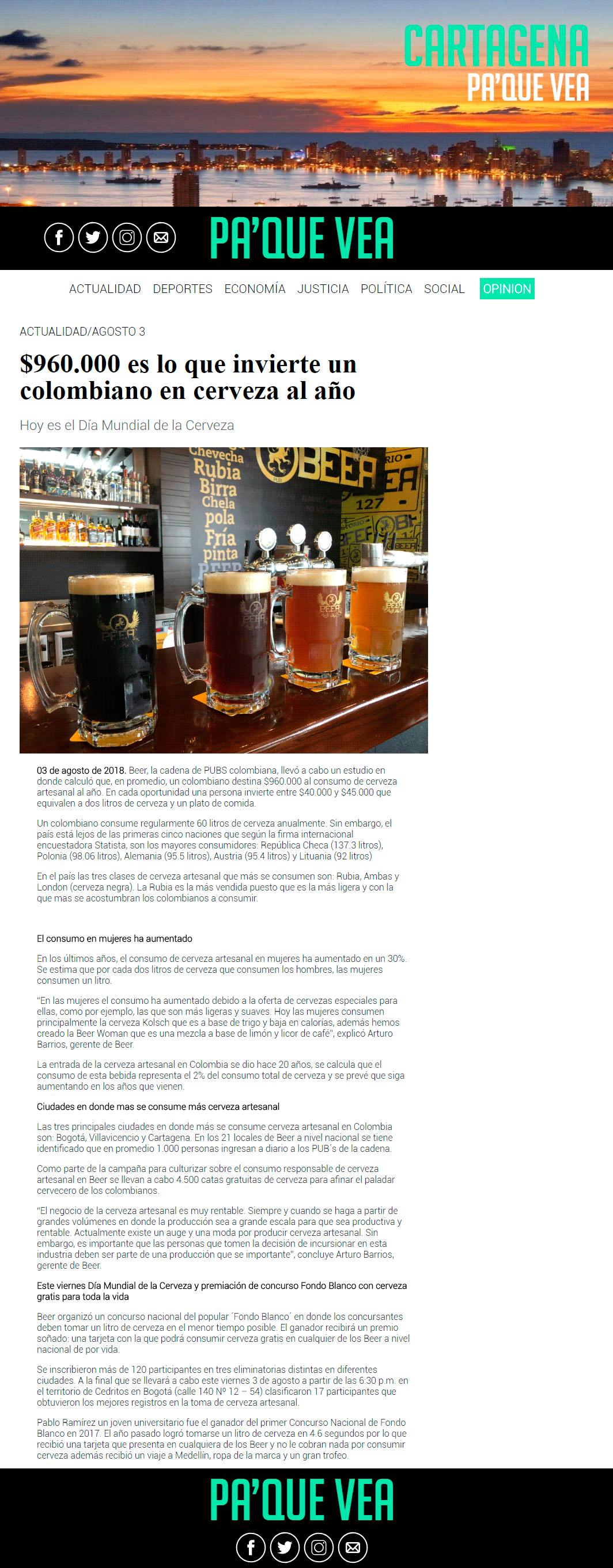 reportaje cerveza