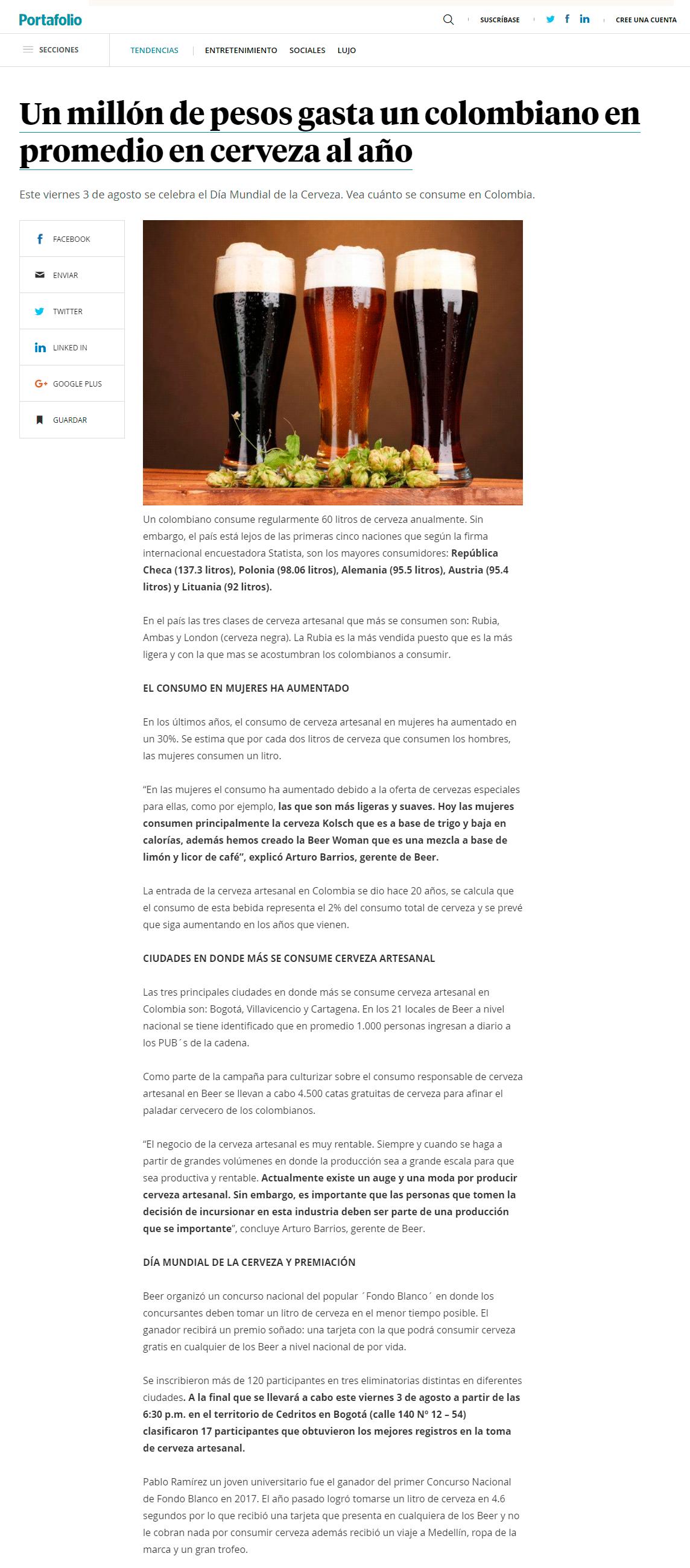 reportaje portafolio beer