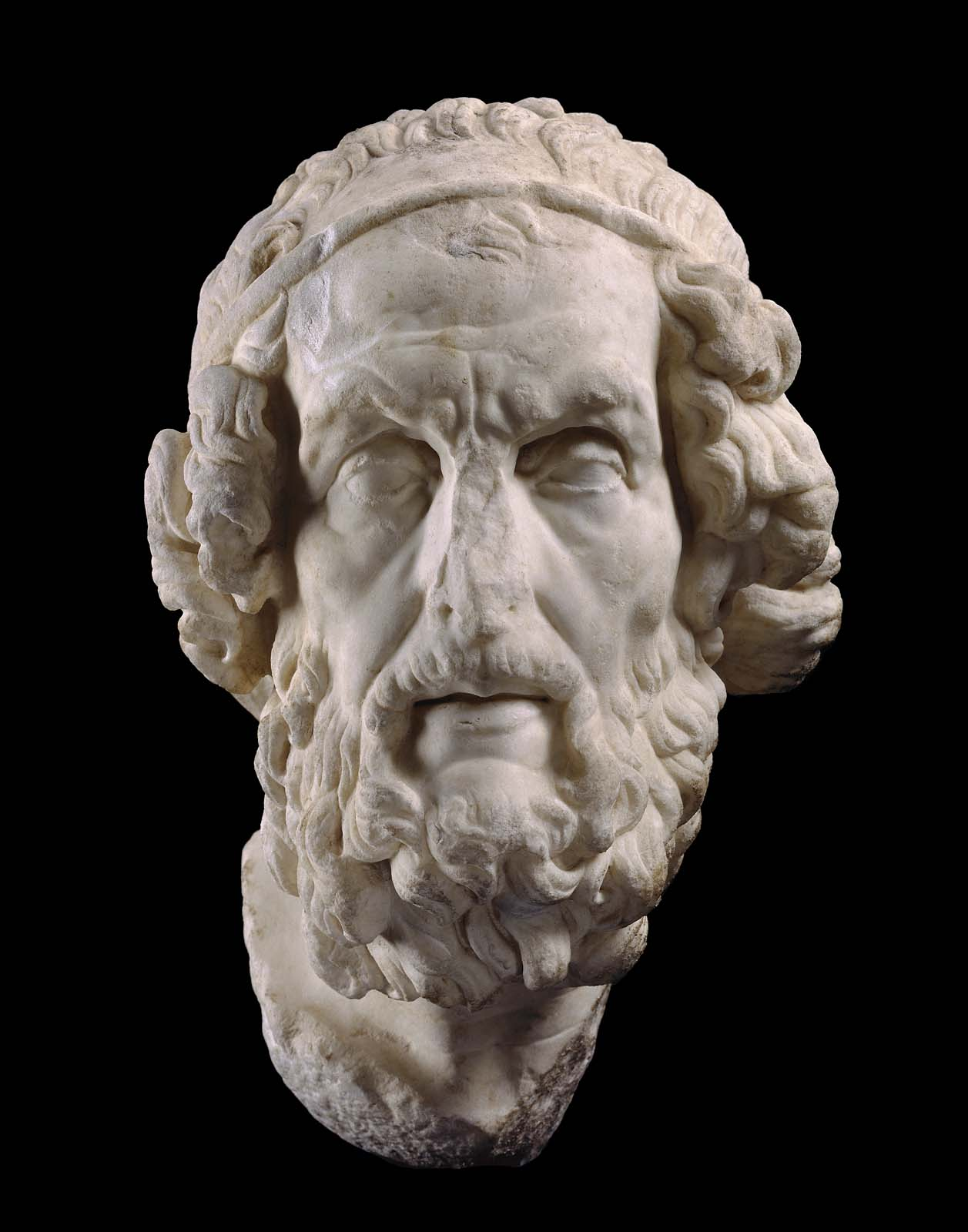 Homer, C. 100 BC. Marble. Museum of Fine Arts Boston.  Source:http://www.mfa.org/collections/object/homer-151122