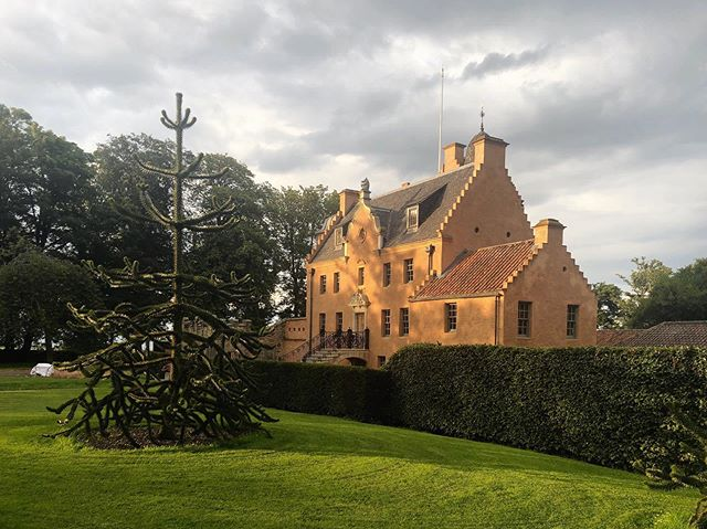 Scottish road trip with @wendyturner21  After a wonderful stop over in Edinburgh we came and had our breath taken away in this wonderful family home with @redlovesue near St Andrews. Simply stunning. #scotland #roadtrip