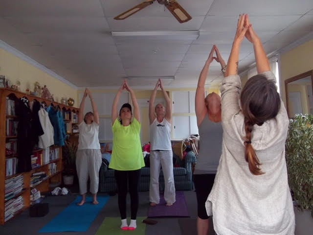 Article in the Forecaster titled  'Portland nonprofit confident yoga can change lives.""