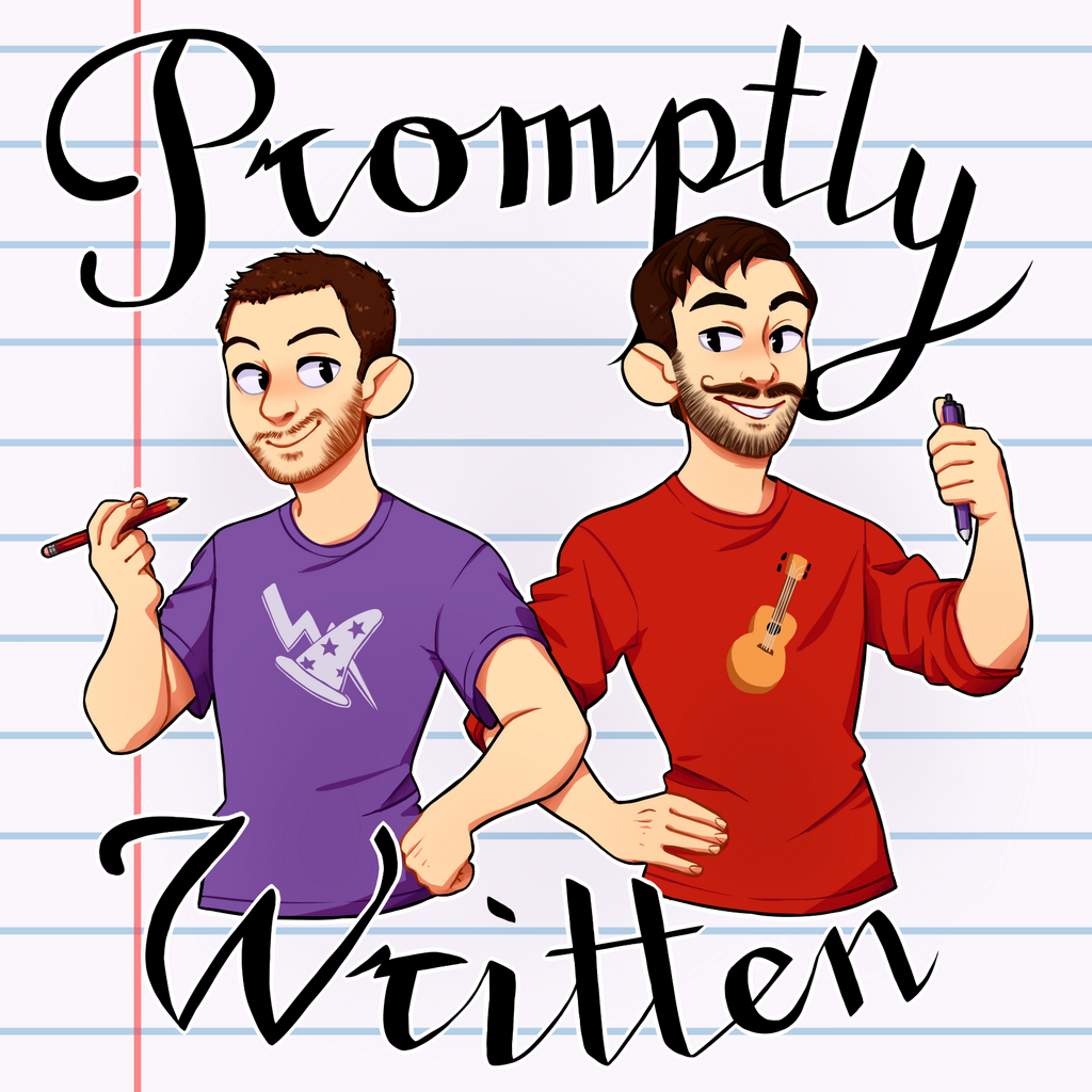 The official art for Promptly Written, as created by  Emily
