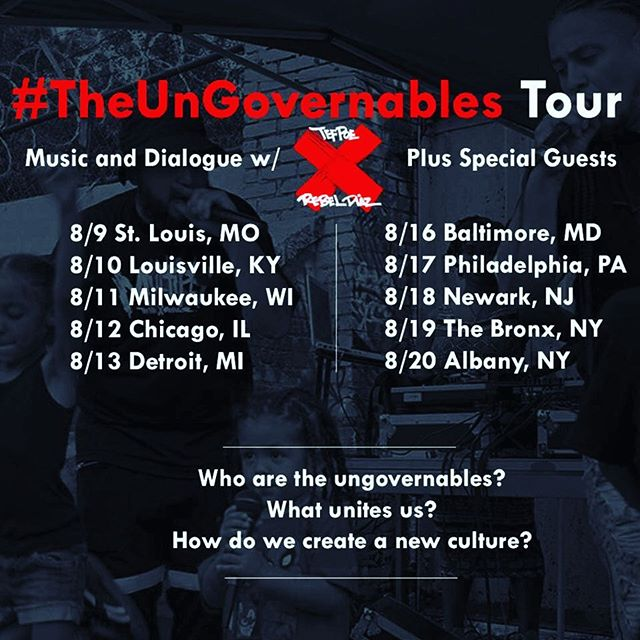 Just joined the lineup for #theungovernables tour with @rebeldiaz & @tef_poe