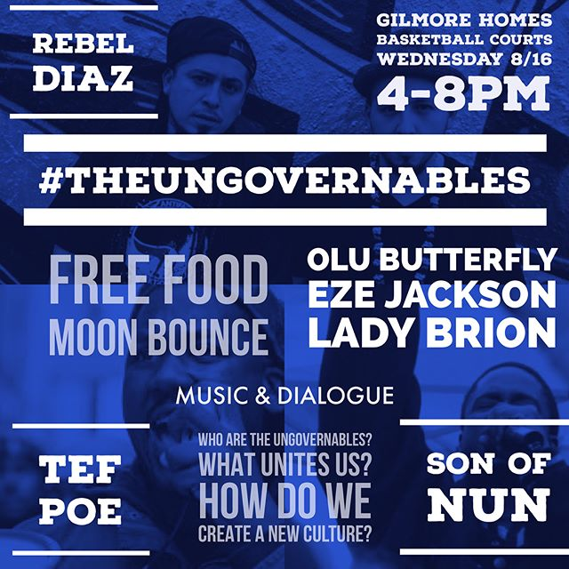 #theungovernables tour in Gilmore Homes in Baltimore w/ @ladybrion @ezewriter @olubutterfly @tef_poe @rebeldiaz @sonofnun.7 FREE FOOD