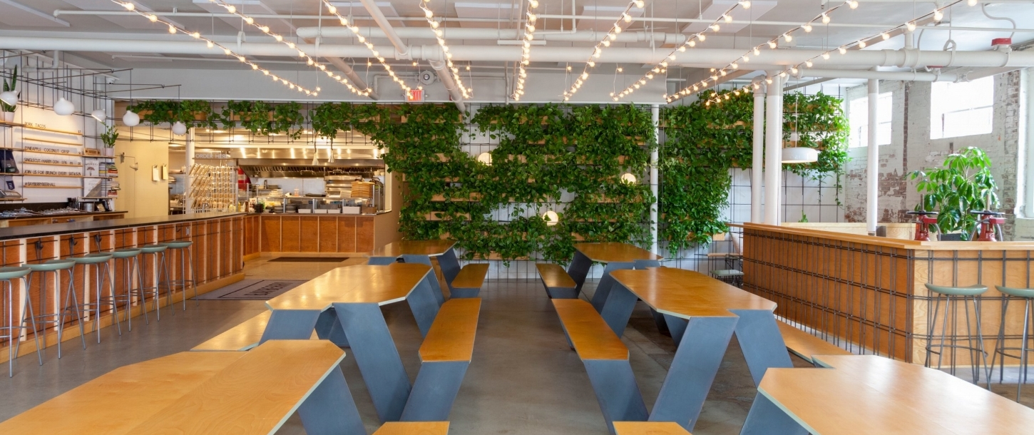 The Bayberry Beer Hall Communal Dining Area