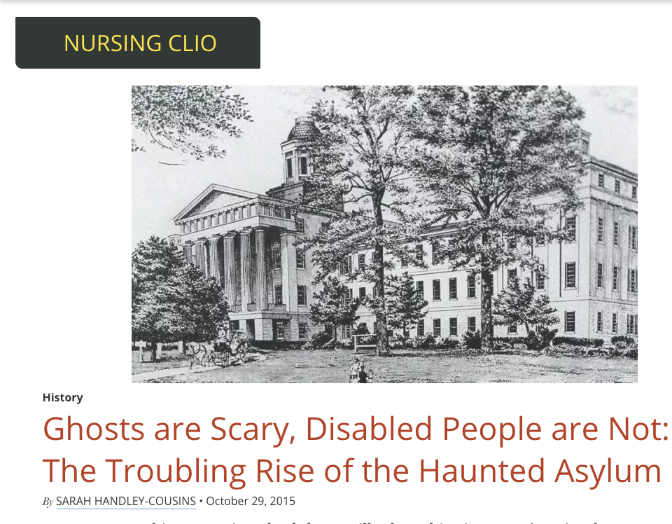 Ghosts are Scary, Disabled People Are Not